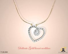 #Designer #Gold Heart #Necklace Online....
