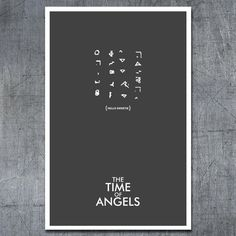 Minimalist Doctor Who episode poster - The Time of Angels Doctor Who Minimalist, Doctor Who Poster, Doctor Who Episodes, 11th Doctor, Don't Blink, Geronimo, Blue Box, Dr Who, Tardis