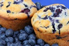 Coconut Flour Blueberry Muffins YUM! Great recipe to tweek to your likeness!