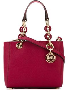 MICHAEL MICHAEL KORS CYNTHIA XTRA SMALL CHERRY SAFFIANO  LEATHER SATCHEL BAG #MichaelKors #Satchel