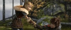 She must be really strong, and he must be pretty light < HTTYD 2. Hiccstrid. :)