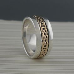 Wide Celtic Eternity Knot Wedding Ring