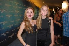 Cozi posing with her stunt double at the Dolphin Tale 2 premiere.