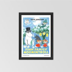 Moomin poster - Finn Family Moomintroll by Tove Jansson exclusively from shop.moomin.com! Available in two sizes: 70 x 50 cm