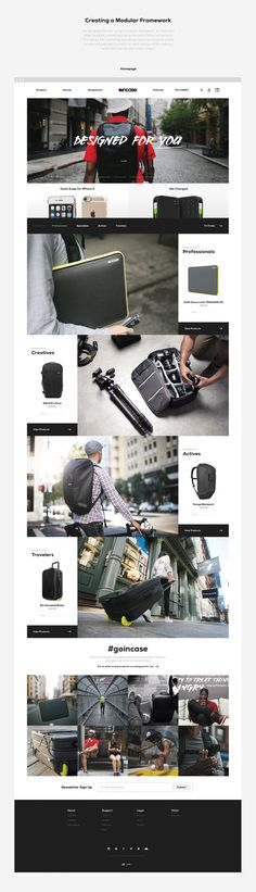 Incase Brand Strategy & eCommerce Design on Behance