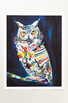 Psychedeli-Hoo By Starla Michelle Halfmann - anthropologie.eu