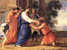 Painting of Christ Healing the Blind Man by Eustache Le Sueur A prayer for a cure from illness