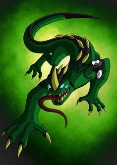 Ben 10 Omegatrix: Reptilian_Posed by TheHawkDown on DeviantArt Monster Hunter, Ben 1000, Character Art, Character Design, Character Ideas, Ben 10 Comics, Aliens, Ben 10 Alien Force, Ben 10 Omniverse