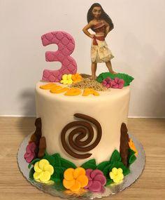 Moana Birthday Party Theme, Moana Themed Party, 3rd Birthday Cakes, Moanna Cake, Brownie Cake, Lilo And Stitch Cake, Fiesta Cake, Creative Cakes, Themed Cakes