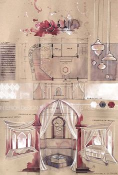 Interior Design For Living Room Presentation Board Design, Interior Design Presentation, Architecture Presentation Board, Project Presentation, Interior Design Sketches, Interior Rendering, Sketch Design, Cafe Interior, Bartlett School Of Architecture