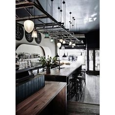 The best cafe, restaurant and bar interiors of 2015 ❤ liked on Polyvore featuring backgrounds, phrase, quotes, saying and text