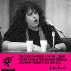 Andrea Dworkin: writer and feminist.