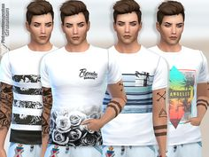 Summer Tee Collection 010 by Pinkzombiecupcakes at TSR • Sims 4 Updates