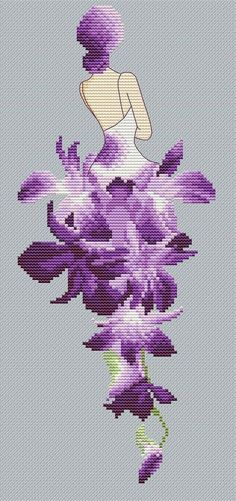 This Pin was discovered by Ewa Cross Stitch Bookmarks, Cross Stitch Rose, Modern Cross Stitch, Cross Stitch Flowers, Cross Stitch Designs, Cross Stitch Patterns, Cross Stitching, Cross Stitch Embroidery, Embroidery Patterns