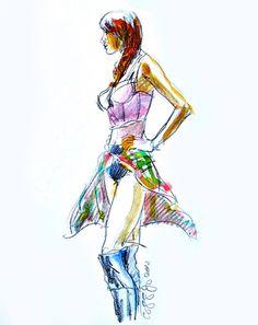Color Pencil/Watercolor Rendering-Miguel Angel Reyes