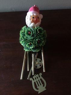 Chrismas Holiday Wind Chimes Santa Yuletide by LottieDottieVintage on Etsy