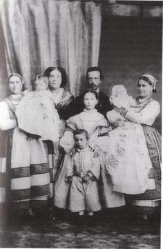 Queen Isabella II of Spain with her family in 1863.