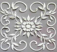 Raised Plaster Barrington Frieze Stencil by Victorysprings on Etsy, $14.99