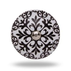 Black and White Geometric Print Decorative Knob, Retro Ceramic Morocco Inspired Door Knob, Modern Home Decor for a Cabinet or Dresser Drawer by TrincaFerro on Etsy https://www.etsy.com/listing/167691358/black-and-white-geometric-print