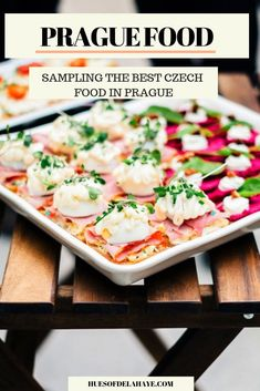 Prague Food Guide - Sampling The Best Traditional Czech Food Traditional Czech Food Guide. In this Prague food guide, I cover the best traditional Czech food to try when visiting Prague. This guide includes the best Czech restaurant, delicious Backpacking Europe, Travel Europe, European Travel, Czech Goulash, Bucket List Europe, Prague Food, Cooking Classes Nyc, Visit Prague, Czech Recipes