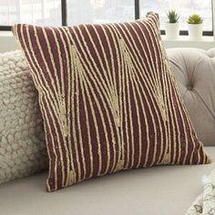 World Menagerie Brahim Southwestern Dark Red/Black Rug & Reviews   Wayfair Floral Throw Pillows, Throw Pillow Sets, Pillow Covers, Jute Fabric, Black Rug, Cotton Velvet, Cotton Pillow, Life Styles, Dark Red