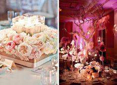 Blush Pink Wedding Centerpiece Details