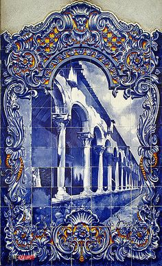 Hermetic Tarot, Places In Portugal, Portuguese Tiles, Blue Tiles, Mosaic Tiles, Blue And White, The Incredibles, Ceramics, Gallery