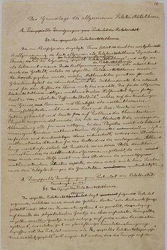 Einstein's handwritten manuscript explaining general relativity.