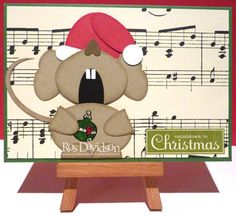 Whimsical Mouse Music Paper Card...