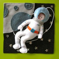 Astronaut Quiet Book Page