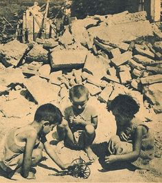 The Great 1953 Ionian Earthquake struck the southern Ionian Islands on August… Greece Photography, Good Old Times, Never Again, Yesterday And Today, Thunder, Old Photos, The Past, August 12, Black And White