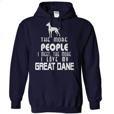 The More I Love My Great Dane - #tee outfit #floral tee. GET YOURS => https://www.sunfrog.com/Pets/The-More-I-Love-My-Great-Dane-NavyBlue-Hoodie.html?68278