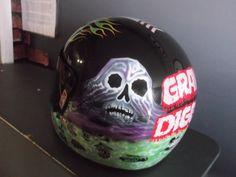 Monster Truck Driver- Grave Diggers Helmet Wrap Monster Truck Jam, Digger, Custom Vinyl, Motorcycle Helmets, Football Helmets, Sick, Wraps, Prints, Motorcycle Helmet