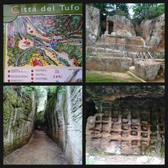 La città del tuffo #sovana Ildebranda tomb ornate tombs with burial chambers underneath and smaller tombs..#etruscan #history #maremma