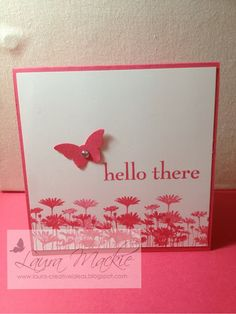 Stampin Up! Ideas & Supplies Recreate on smaller scale for P L. Great for baby pages (hello there baby!)