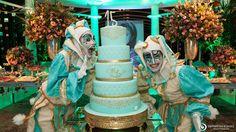 Resultado de imagem para decoração  azul tiffany 15 anos