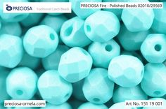 PRECIOSA Fire-Polished Beads - 151 19 001 - 02010/29569 - Sea Green | by PRECIOSA ORNELA