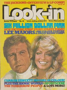 July 1977, Lee Majors and Farrah Fawcett Majors.