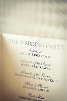 Wedding Program Guide, Helpful wording suggestions and what to include