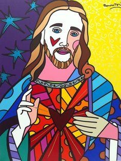 Jesus by Romero Britto