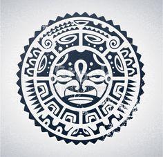 Polynesian tattoo styled vector illustration.