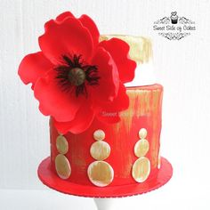 First Fondant Poppy - Cake by Sweet Side of Cakes