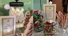"""Elf"" Movie Themed Christmas Party: Cotton candy ""cotton balls"""