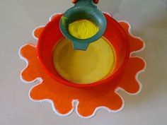 how to make Unique Rangoli Design using kitchen utensil, fork and tea cups - YouTube