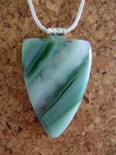 Free Shipping Jade Green Shield Fused Glass by ArtGlassInspired