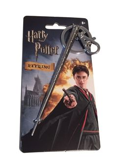Harry Potter Hermione's Wand Metal Key Ring Keychain With Clip New in Pkg #Monogram