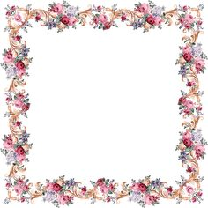 Victorian Floral Frame From PAPIROLAS COLORIDAS, free images but creator asks for email thank you message if you do use images