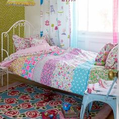 Girls floral bedding