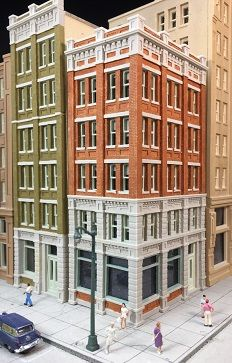 Lunde Studios Model Railroad Structure Kits N Scale Minecraft City Buildings, Minecraft House Plans, Minecraft Houses, N Scale Train Layout, Model Train Layouts, Sims Building, Model Building Kits, N Scale Model Trains, Scale Models