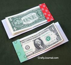 A matchbook money gift is perfect for everyone! Christmas Gift Card Holders, Christmas Gifts To Make, Christmas Decor, Christmas Ideas, Dollar Bill Origami, Money Origami, Simple Gifts, Unique Gifts, Creative Money Gifts